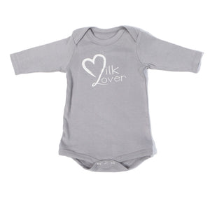 Organic Onesie - Long Sleeve Milk Lover (Gray)
