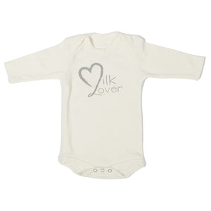 Organic Onesie - Long Sleeve Off White (Milk Lover)