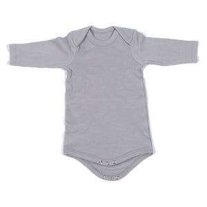 Organic Onesie - Long Sleeve Gray (Plain)