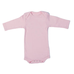 Organic Onesie - Long Sleeve Pink (Plain)