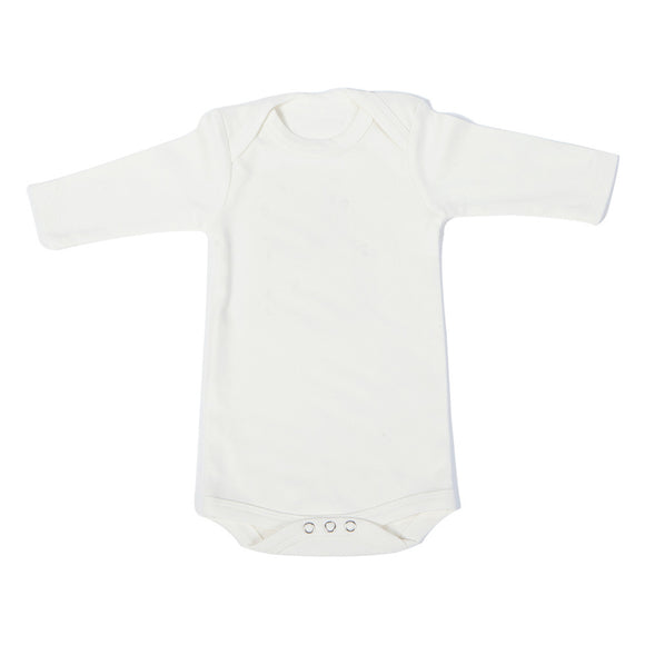Organic Onesie - Long Sleeves Off White (Plain)
