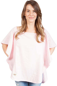 Organic Nursing Cover Pink Oval