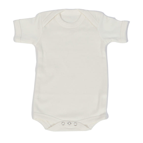 Organic Onesie - Short Sleeve Off White (Plain)