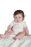 Organic Onesie - Short Sleeve Off White (Milk Lover)
