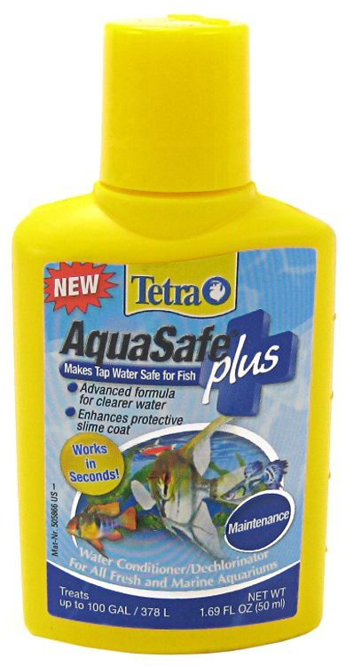 Tetra AquaSafe Plus Freshwater & Marine Aquarium Water Conditioner