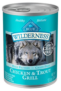 Blue Buffalo Wilderness Grain Free Trout & Chicken Canned Dog Food