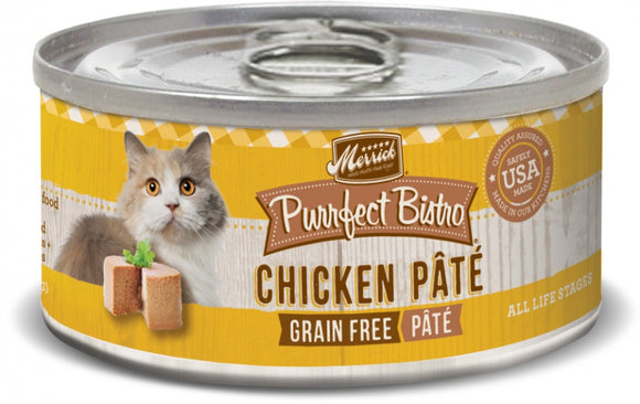 Merrick Purrfect Bistro Chicken Pate Grain Free Canned Cat Food