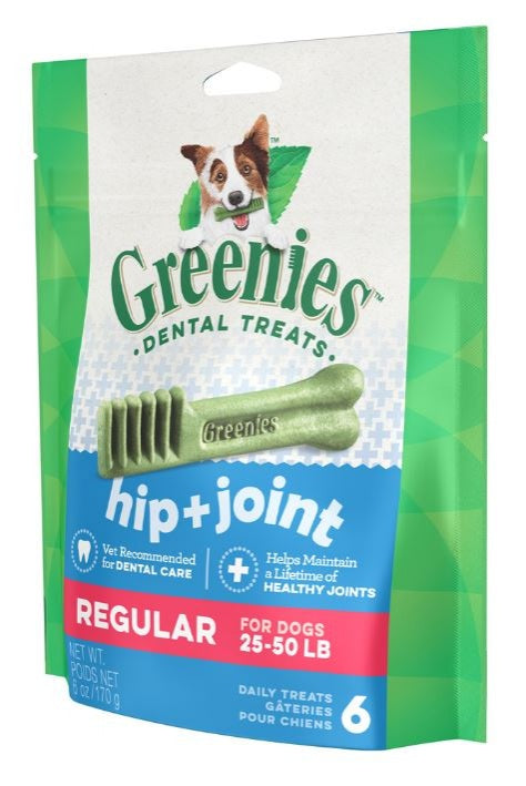 Greenies Regular Hip and Joint Care Canine Dental Chews