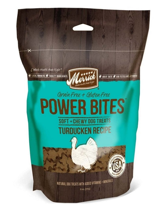 Merrick Power Bites Turducken Recipe Dog Treats