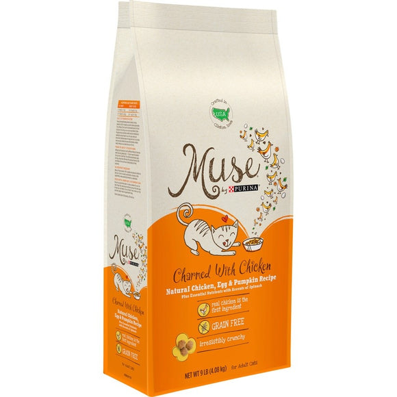 Purina Muse Adult Grain Free Charmed With Chicken Natural Chicken, Egg and Pumpkin Recipe Dry Cat Food