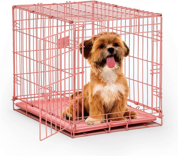 Midwest iCrate Single Door Pink Dog Crate