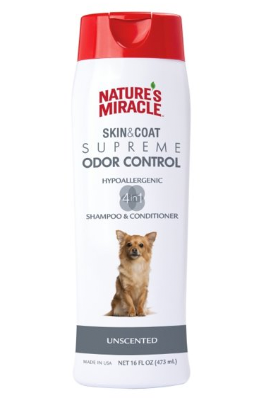 Natures Miracle Skin & Coat Supreme Odor Control - Hypoallergenic Shampoo & Conditioner