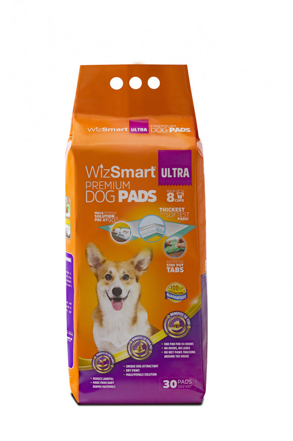 WizSmart Ultra All Day Dry Premium Dog Pads