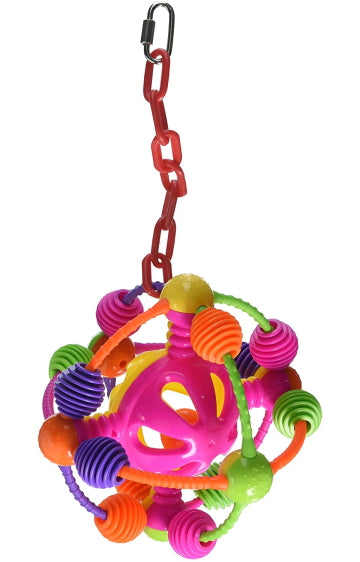 A&E Happy Beaks Space Ball on a Chain Bird Toy