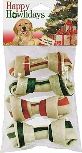 Pet Factory Holiday Bone 4-Pack