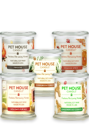 Pet House Large Holiday Candles