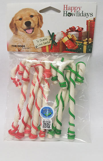 Pet Factory Holiday Canes 5-inch 9 Pack