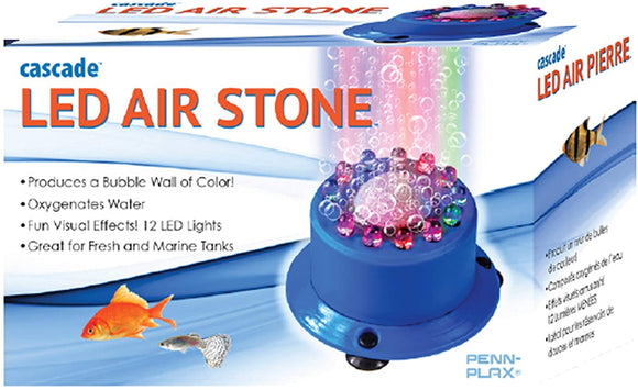 Penn-Plax Cascade Multi-Colored Rainbow LED Air Stone