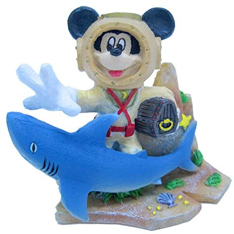 Penn-Plax Mickey with Treasure Chest and Shark Decor