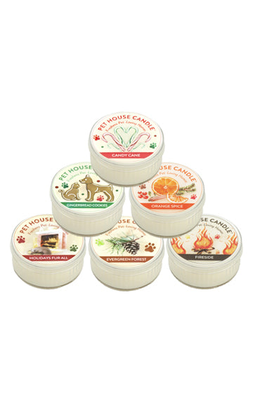 Pet House Holiday Mini Candles