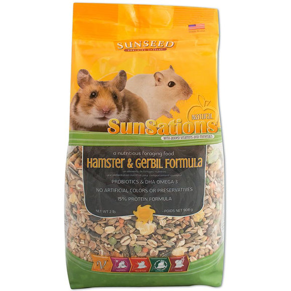 Sunseed SunSations Natural Hamster & Gerbil Formula