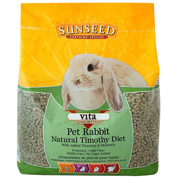 Sunseed Vita Natural Timothy Pet Rabbit Diet
