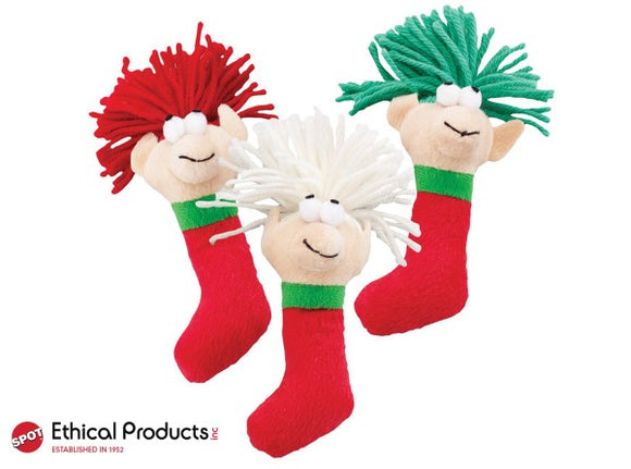 Ethical Holiday Wooly Elf Cat Toy