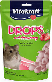 Vitakraft Drops with Strawberry Hamster Treats