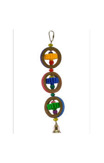 A&E USA Gears/Rings Bird Toy, Medium