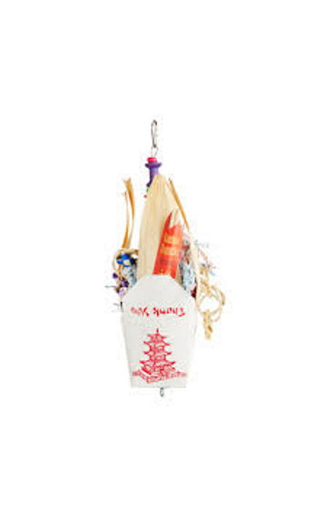 A&E Cage Chinese Takeout Hanging Bird Toy, Medium