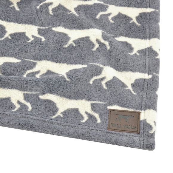Tall Tails Dog Blanket - Grey Icon