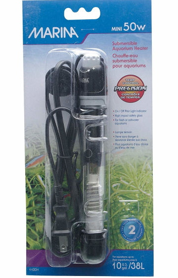 Hagen Marina Mini Submersible Aquarium Heater - 50W