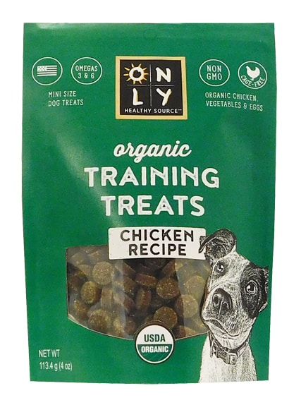 Only Healthy Source Organic Training Treats- Chicken Recipe