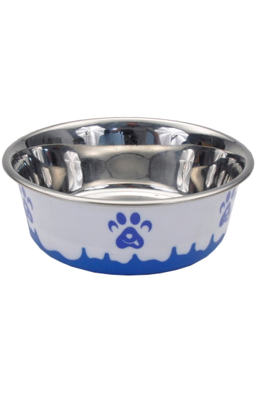 Coastal Bowl Maslow Design Non-Skid Paw Design Dog Bowls, 13 oz