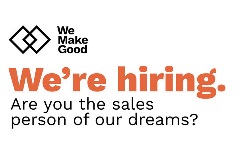 We're hiring a part-time salesperson