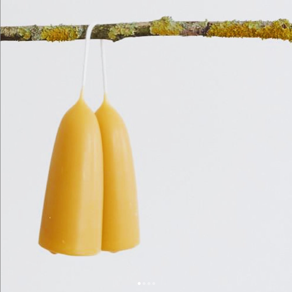 Dipped Beeswax Stubbies (12cm)