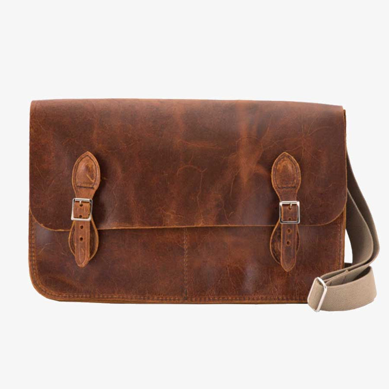 "Cambrai 13"" Leather Satchel"