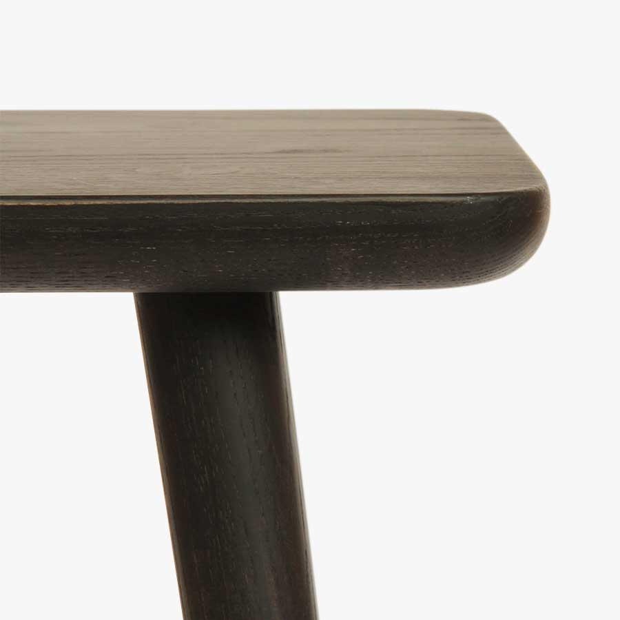 Wedge Table Ebonised (Rectangle)