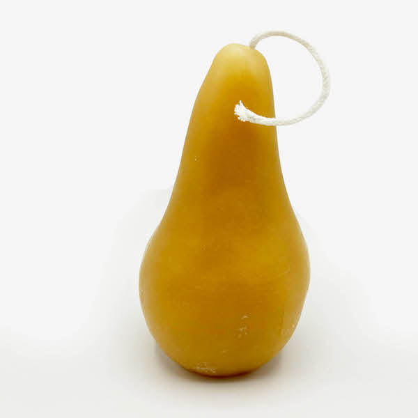 Beeswax Pear Candles