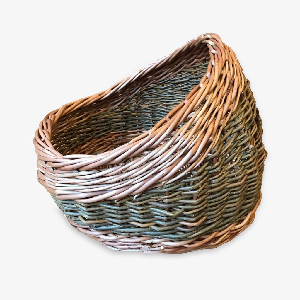Handwoven willow pet basket