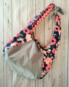 Bag- Reversible HOBO Gray/Floral