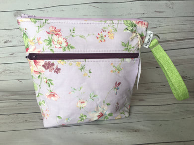 Cosmetic Bag - Purple Floral