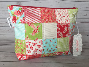 Cosmetic Bag - Patchwork- Large