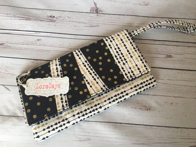 Clutch - Black/Gold