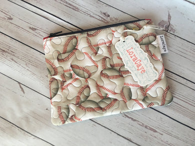Cosmetic Bag Baseball / Medium Flat