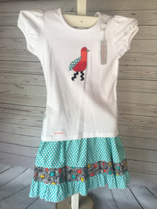 Skirt Outfit -Crazy Bird Ruffle