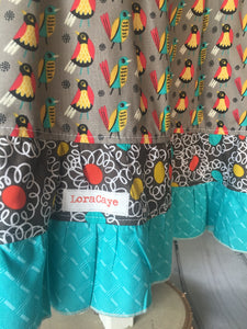 Skirt Set / Crazy Bird Ruffles