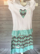 Short Set - Aqua Lotus -Ruffle
