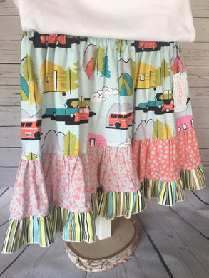 Skirt - Happy Camper Ruffle Skirt