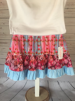 Skirt  -  Bleeding Hearts Ruffle Skirt